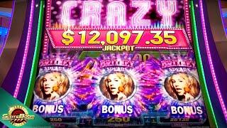 BRITNEY SPEARS  Slot Machine  MAX BET BONUS WINS!!! Aristocrat Slot Game