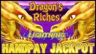 HANDPAY JACKPOT HIGH LIMIT Lightning Link Dragon's Riches $25 Bonus Round Liberty Link Slot Machine