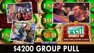 $4200 GROUP PULL  $22.50 Max Bet Spins on Mighty Cash Double Up  STRAT Vegas #ad