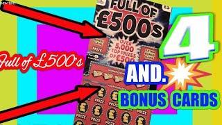 Wow!.One Card Wonder Full £500splus 4 Bonus cardsOne being HIDDEN TREASURE Scratchcard.mmmmmmMMM