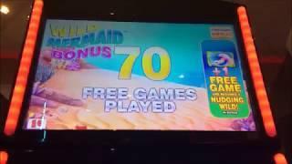 Wild Mermaid Slot Machine Bonus - So many retriggers!