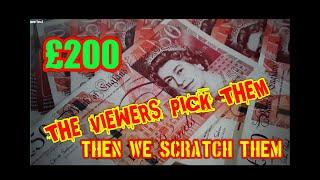 SCRATCHCARDS  PRIZE DRAW...& VIEWERS  CAN PICK THERE CARDS