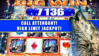 BIG WINS ON WINTER WOLF  HIGH LIMIT JACKPOT HANDPAY  BONUSES & LIVE PLAY
