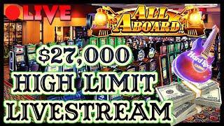 $27K LIVESTREAM - HIGH LIMIT SLOT PLAY FROM SEMINOLE HARD ROCK TAMPA