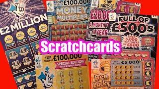 £5.Big Daddy £2 Million Scratchcard..Money Multiplier.B-Lucky.W/Wonderlines.£20,000 Mth