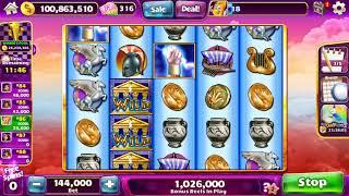 ZEUS II Video Slot Casino Game with a RETRIGGERED FREE SPIN BONUS
