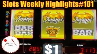 Slots Weekly Highlights#101 for You who are busy High Limit Slot - Jackpot Handpay 赤富士スロット 高額スロット週刊