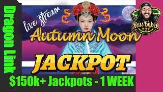 Dragin Link Autumn Moon Double Jackpot Handpay Bonus Session