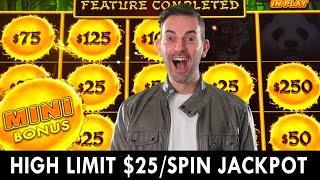 JACKPOT on $25/Spin HIGH LIMIT Dragon Cash Slot Machine