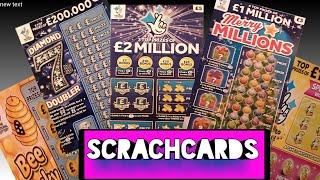 Scratchcards..SCRATCHCARDS..and Scratchcards..£2 Million Big Daddy..Merry Millions and more