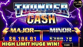 ️$10 BET HUGE WIN️RETRIGGERED THUNDER CASH HIGH LIMIT BONUS | GRAND DRAGON EPIC BONUS SLOT MACHINE