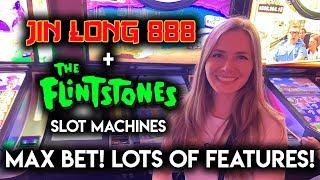 Flintstones Slot Machine! Lots of Features NICE WIN!!
