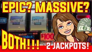 EPIC Highest Jackpot on YouTube Caught Live on DOUBLE GOLD Slot Machine! Massive HANDPAY!