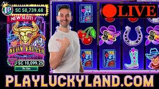 LIVE SLOTS  NEW Slot Machines $1,000SC on LuckyLand Social Casino Slots BCSlots #ad