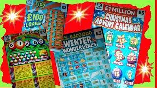 Scratchcards ..Rainbow Bingo..5X Cash..WINTER WONDERLINES..Christmas Advent..£100 Loaded..Cash Match