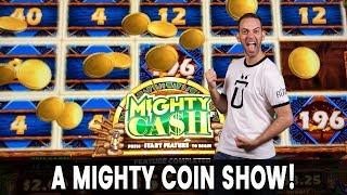 MIGHTY Coin Show w/ Mighty Cash  HIGH LIMIT Pinball Slots FTW