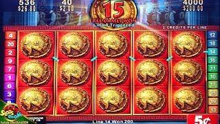FULL SCREEN BONUS!!! ROMAN TRIBUNE 5c SLOT MACHINE - KONAMI GAMING