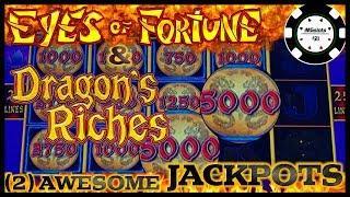 ️HIGH LIMIT Lightning Link Dragon's Riches & Eyes of Fortune (2) JACKPOT HANDPAYS ️$25 BONUS ROUND