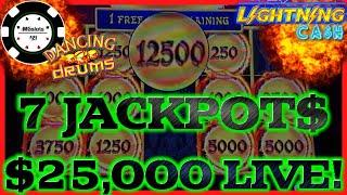$25K LIVESTREAM HIGH LIMIT SLOT PLAY FROM SEMINOLE HARD ROCK TAMPA (7) JACKPOT HANDPAYS