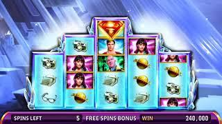 SUPERMAN THE MOVIE Video Slot Casino Game with a FORTRESS OF SOLITUDE FREE SPIN BONUS