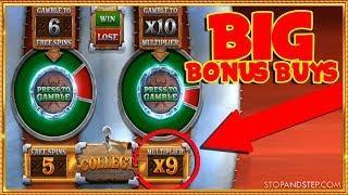 Buying BIG BONUSES on Megaways Slots, up to £400!! - Online Casino Session