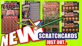 NEW Scratchcards..DIAMOND'7'DOUBLER.New 2020 Cards.New FULL £500s.New MONOPOLY