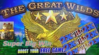 FIRST LOOK ! SUPER BIG WIN ! SUPER POTENTIAL !THE GREAT WILDS Slot (KONAMI) Slot Play $3.00 Bet栗
