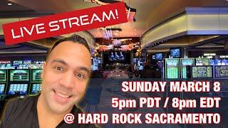 $1000 Live Slot Play @ Hard Rock Sacramento!! MIGHTY CASH DOUBLE ️️   CASH MACHINE!
