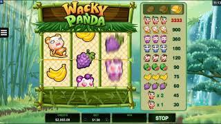 Wacky Panda Online Slot from Microgaming - 3 Reels 1 Payline - big wins!