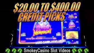 MYSTICAL MONARCHY Slot Machine $20 to $400 Big Wins - KONAMI
