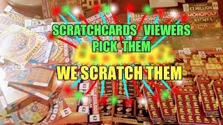 SCRATCHCARDS..VIEWERS PICK TONIGHT & TOMORROW WE SCRATCH