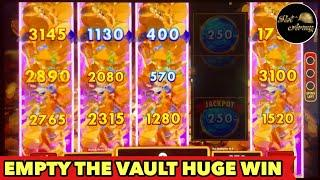 ️VEGAS LUCK HUGE WIN️UP TO $5 MAX BET EMPTY THE VAULT BONUS SLOT MACHINE