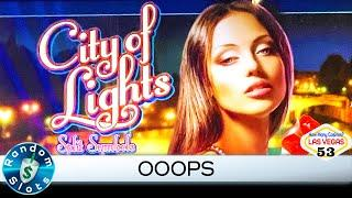 City of Lights slot machine bonus, or at least most of it