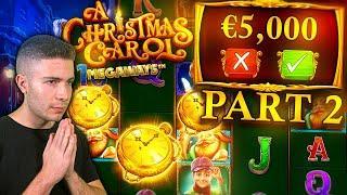 TRYING OUT €5000 CHRISTMAS CAROL MEGAWAYS BONUS BUYS PART 2 ft. Foss