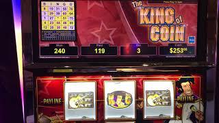 """""""KING OF COIN"""" VGT Slots """"Red Win Spins"""" Bingo Bunny Pattern.  Choctaw Gaming Casino, Durant, OK"""