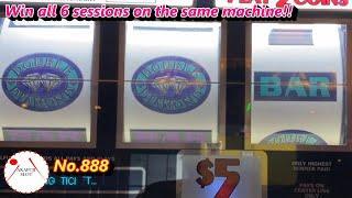 Hit ! Hit ! Hit !High Limit Double Diamond Slot Machine 3 Reels Old School Max Bet 赤富士スロット
