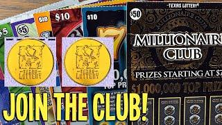 JOIN THE CLUB!  2X $50 Tickets  $190 TEXAS LOTTERY Scratch Offs