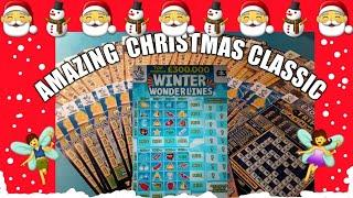 """Christmas Scratchcard game .""""WINTER WONDERLINES"""".Merry Millions..""""HOLIDAY CASH..CHRISTMAS CLASSIC #1"""