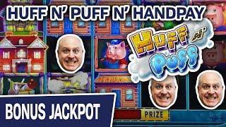 I'll HUFF and I'll PUFF and I'll HIT A HANDPAY  Double Diamond Slots $45 SPINS