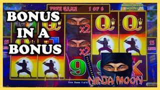 HIGH LIMIT Dollar Storm Ninja Moon ️$25 Bonus Round Slot Machine Casino