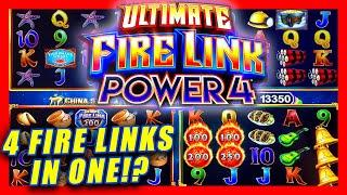 4 FIRE LINKS IN 1? THE NEW ULTIMATE FIRE LINK POWER 4 WAS ACTIVE!  BIG WINS & LIVE SLOT PLAY