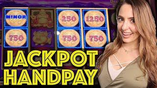 Lightning Link Dragon Riches JACKPOT HANDPAY on $25 MAX BET!!