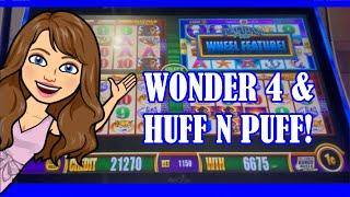 Max Bet Wonder 4  My First Pelican Pete Attempt!  $25 BETS Huff N Puff!