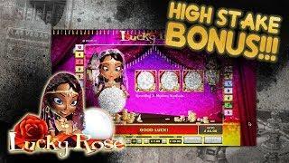 High Stake!   Lucky Rose Slot, my favorite fortune telling  (Lucky Rose Bonus)