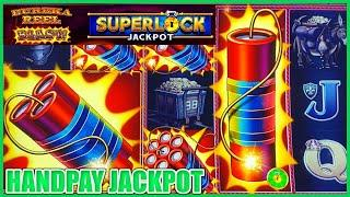 HIGH LIMIT SUPERLOCK Lock It Link Eureka Reel Blast HANDPAY JACKPOT $30 Max Bet BONUS Slot Machine