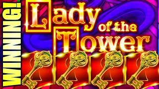 A FAIRY TALE WIN!  LADY OF THE TOWER & MONEY ROLL Slot Machine (Incredible Technologies)