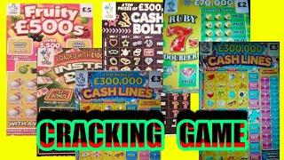 WOW!....What a  Cracker of a Game..FRUITY £500..Cash Bolt..INSTANT £100..MONEY SPINNER..CASH LINES