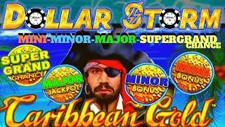 ️DOLLAR STORM CARIBBEAN GOLD ️SUPER GRAND CHANCE MAJOR MINOR MINI JACKPOT HANDPAY HIGH LIMIT