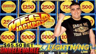 High Limit LIGHTNING LINK Slot Machine HUGE HANDPAY JACKPOT - $62.50 A Spin| SEASON-11 | EPISODE #19