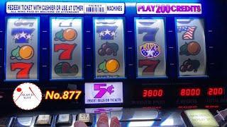 Very Old SlotTriple Stars Slot Machine 20 Lines/ Max Bet $10 赤富士スロット